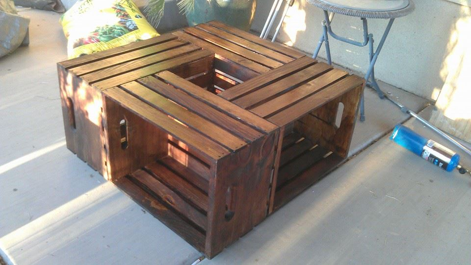 Finished Crate Coffee Table Finished Crate Coffee Table Dog Breeds